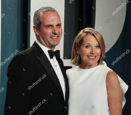 Stock Image of John Molner and Katie Couric
