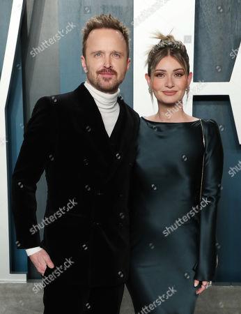 Aaron Paul and wife Lauren Parsekian