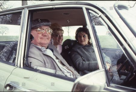 Fred takes Bet and Betty out for the day - but it turns into a damp squib. Fred Feast (as Fred Gee), Julie Goodyear (as Bet Lynch) and Betty Driver (as Betty Turpin)
