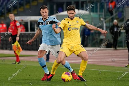 Senad Lulic and Fabio Borini during SS Lazio vs Hellas Verona FC