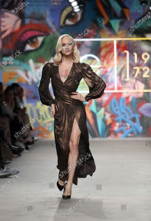 Miss Fame on the catwalk
