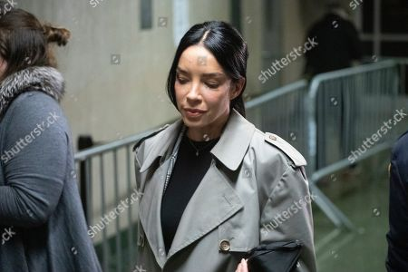 Stock Photo of Mexican model Claudia Salinas leaves court after testifying in Harvey Weinstein's rape trial, in New York