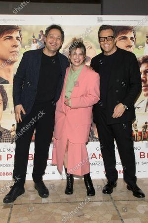 Claudio Santamaria, Emma Marrone and Gabriele Muccino