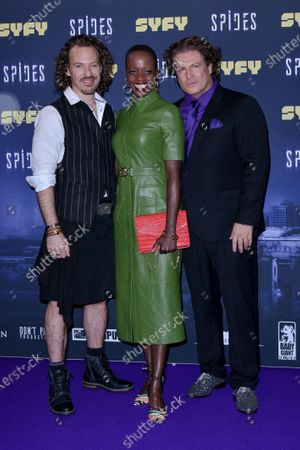 Falk Hentschel, Florence Kasumba and Francis Fulton Smith