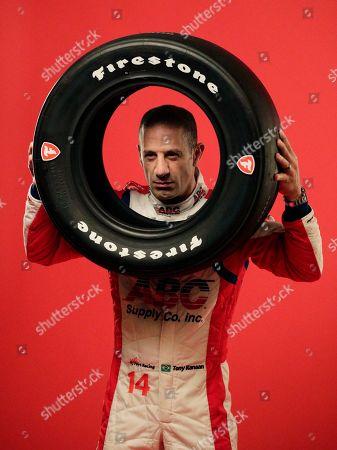 IndyCar driver Tony Kanaan poses for photos during IndyCar Media Day Auto Racing, in Austin, Texas