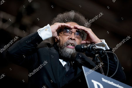 Harvard Professor Cornel West speaks at a campaign rally for Democratic presidential candidate Sen. Bernie Sanders, I-Vt., at the Whittemore Center Arena at the University of New Hampshire, in Durham, N.H