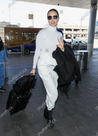 Editorial photo of Adriana Lima at Los Angeles International Airport, USA - 10 Feb 2020