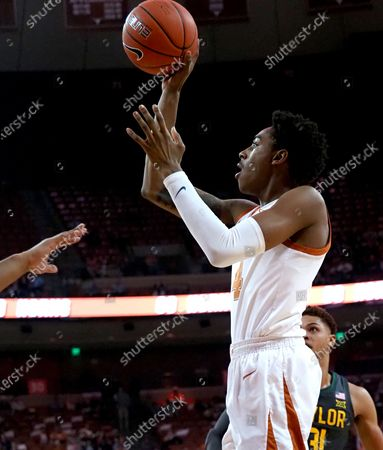 Donovan Williams #4 of the Texas Longhorns in action vs the Baylor Bears at the Frank Erwin Center in Austin Texas.Baylor leads 22-16 at the half