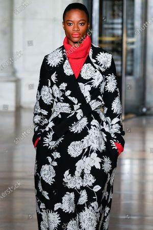 Stock Picture of Mayowa Nicholas on the catwalk