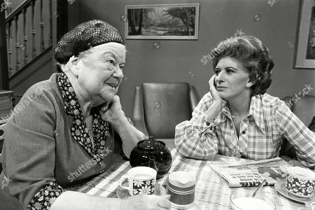 Ep 1967 Wednesday 6th February 1980  Ena tells Elsie that if she stays with her they'll be at each other's throats so she's going to St Annes. With Ena Sharples, as played by Violet Carson ; Elsie Tanner, as played by Pat Phoenix.