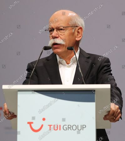 The chairman of the supervisory board of German TUI Group Dieter Zetsche speaks during the annual general meeting of TUI Group in Hanover, northern Germany, 11 February 2020. TUI stock has lost about 20 percent during the last quarter.