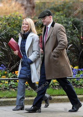 Esther McVey, Housing Minister, and Jake Berry, Minister of State for the Northern Powerhouse, arriving at No.10 Downing Street.