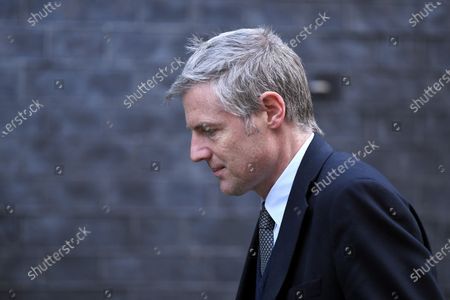 Zac Goldsmith, Minister of State for the Environment and International Development, arriving at No.10 Downing Street.