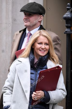 Esther McVey, Housing Minister, and Jake Berry, Minister of State for the Northern Powerhouse, leave a Cabinet Meeting at No.10 Downing Street.