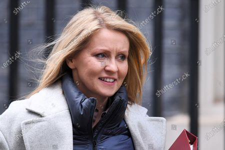 Esther McVey, Housing Minister, leaves a Cabinet Meeting at No.10 Downing Street.