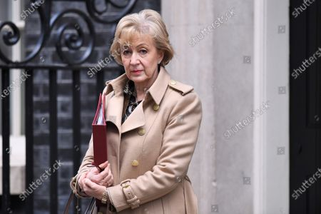 Andrea Leadsom, Secretary of State for Business, Energy and Industrial Strategy, leaves a Cabinet Meeting at No.10 Downing Street.