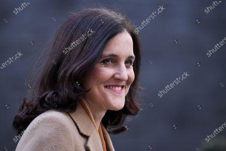 Theresa Villiers, Secretary of State for Environment, Food and Rural Affairs, leaves a Cabinet Meeting at No.10 Downing Street.