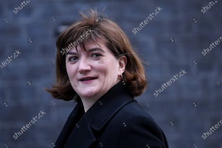 Nicky Morgan, Secretary of State for Digital, Culture and Sport, arriving at No.10 Downing Street.