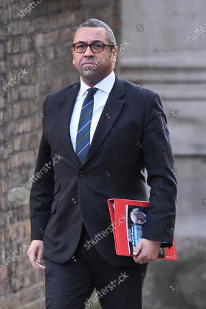 James Cleverly, Conservative Party Chairman, arriving at No.10 Downing Street.