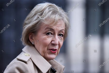 Andrea Leadsom, Secretary of State for Business, Energy and Industrial Strategy, arriving at No.10 Downing Street.
