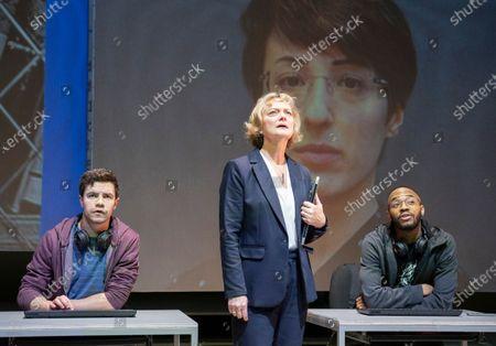 Oliver Johnstone as Neil,  Sarah Woodward as Hannah, Enyi Okoronkwo as Zef