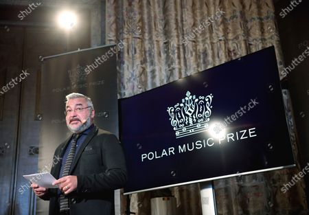 Alfons Karabuda, Chairman of the Polar Music Prize jury, announces the winners of this year's Polar Music Prize during a news conference in Stockholm, Sweden, 11 February 2020. The jury awarde Russion opear soprano Anna Netrebko and US songwriter Dianne Warren with the 2020 Polar Music Prize