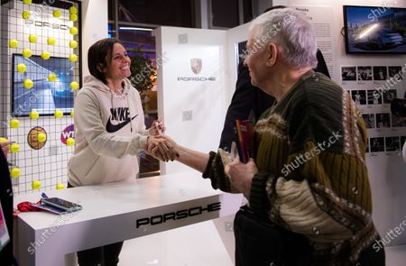 Stock Photo of Roberta Vinci of Italy meets fans at the 2020 St. Petersburg Ladies Trophy WTA Premier tennis tournament.