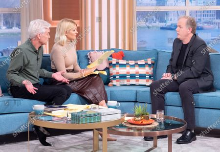 Stock Picture of Phillip Schofield and Holly Willoughby with Mark Sargent