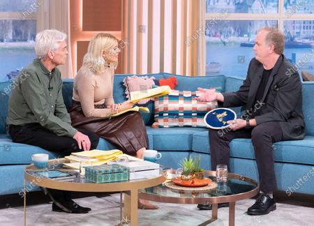 Phillip Schofield and Holly Willoughby with Mark Sargent