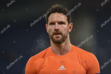 12th February 2020, John Smith's Stadium, Huddersfield, England; Sky Bet Championship, Huddersfield Town v Cardiff City :Sean Morrison (4) Captain of Cardiff City