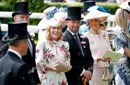 Peter Phillips and Autumn Phillips attends the third day of the annual Royal Ascot horse race meeting, which is traditionally known as Ladies Day, in Ascot, England. Peter Phillips, the eldest grandson of Queen Elizabeth II, and his wife Autumn are divorcing after 12 years of marriage. The couple said in a statement Tuesday Feb. 11, 2020, that separation was sad but amicable