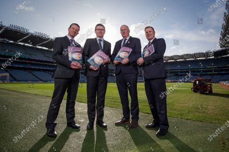 Director of Finance Ger Mulryan, Ard Stiurthoir Tom Ryan, Uachtaran John Horan, Stadium and Commercial Director Peter McKenna