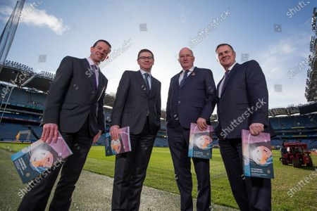 Stock Picture of Director of Finance Ger Mulryan, Ard Stiurthoir Tom Ryan, Uachtaran John Horan, Stadium and Commercial Director Peter McKenna