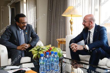 Mohamed Abdullahi Mohamed, President of Somalia meets with Charles Michel, President of the European Council