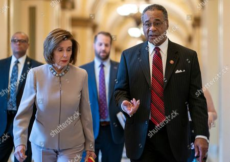 Nancy Pelosi, Emanuel Cleaver. Speaker of the House Nancy Pelosi, D-Calif., left, walks with Rep. Emanuel Cleaver, D-Mo., at the Capitol in Washington