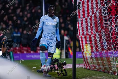Leeds United forward Jean-Kevin Augustin (29) during the EFL Sky Bet Championship match between Brentford and Leeds United at Griffin Park, London