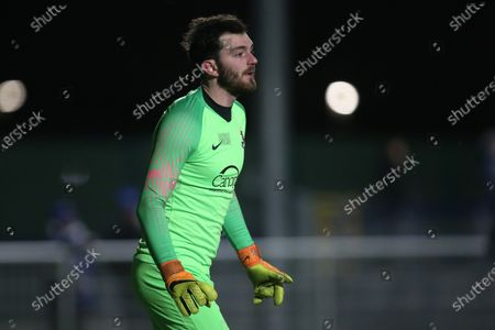 Tim Brown of Brentwood during Romford vs Brentwood Town, BetVictor League North Division Football at Parkside on 11th February 2020