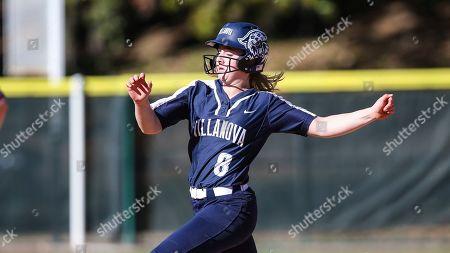Villanova's Chloe Smith (8) during an NCAA softball game against Nicholls State on in Jacksonville, Fla