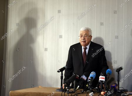 Editorial photo of Abbas meets Olmert in New York, USA - 11 Feb 2020