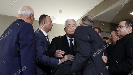 Editorial image of Abbas meets Olmert in New York, USA - 11 Feb 2020
