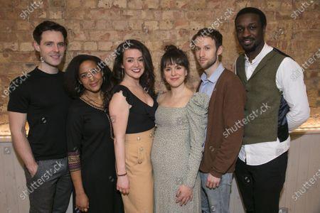 Luke Norris (Thomas 1/2/3), Amaka Okafor (Nora 3/Christine 2), Anna Russell-Martin (Nora 1/Christine 3), Natalie Klamar (Nora 2/Christine 1), Mark Arends (Nathan 1/2/3) and Zephryn Taitte (Daniel 1/2/3)