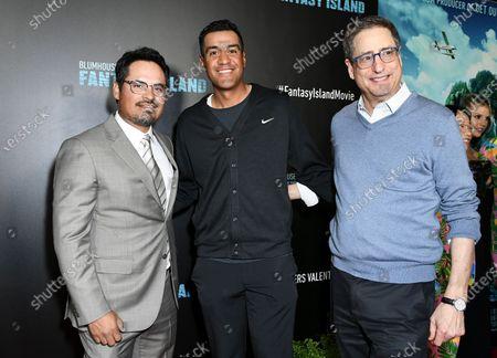 Michael Pena (L), Tony Vinciquerra (R) and guest