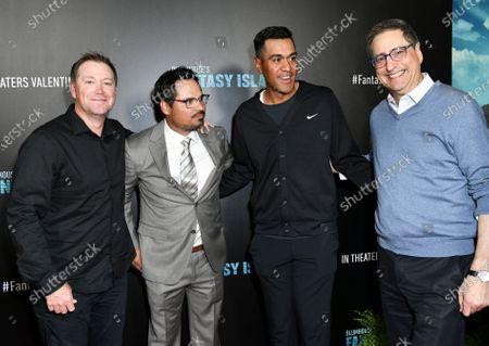 Stock Photo of Michael Pena (CL), Tony Vinciquerra (R) and guests