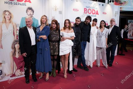 Silvia Alonso, Alex Garcia, Dani de la Orden, Belen Cuesta, Mariam Hernandez and Leo Harlem