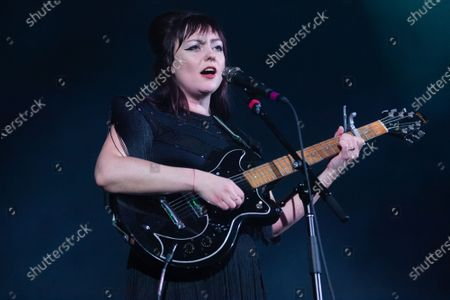 Editorial image of Angel Olsen in concert at Eventim Apollo in London, UK - 11 Feb 2020