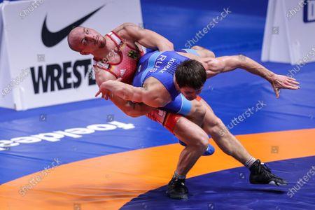 Frank Staebler of Germany and Adam Kurak of Russia category gr 72kg
