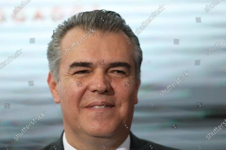 Stock Picture of The President of the Confederation of Industrial Chambers of Mexico (Concamin) Francisco Cervantes participates in an act with Mexican businessmen, in Mexico City, Mexico, 11 February 2020. Businessman Carlos Slim, considered the richest Mexican, highlighted the economic results of the Government of President Andres Manuel Lopez Obrador as the improvement of purchasing power and moderate inflation, although he asked to speed up investment in infrastructure in Mexico.