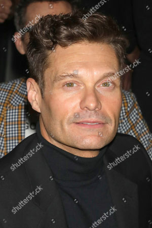 Ryan Seacrest attends the Naeem Khan fashion show at the Zaha Hadid Building during NYFW Fall/Winter 2020, in New York