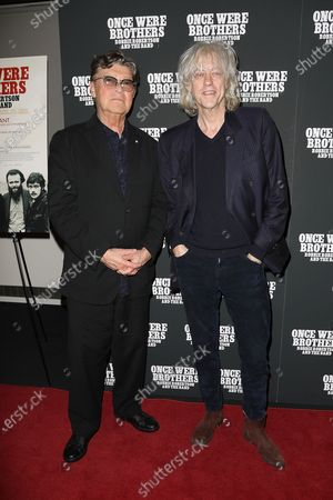 Stock Image of Robbie Robertson and Bob Geldof