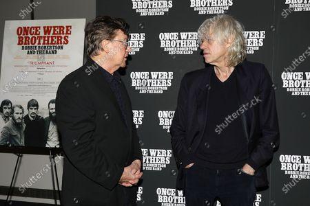 Robbie Robertson and Bob Geldof